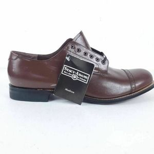 Stacy Adams Mens Oxford Dress Shoes Brown Leather